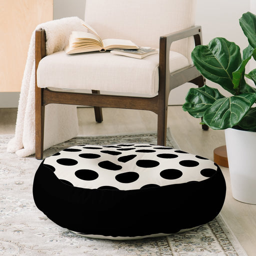 Black Dots Floor Pillow