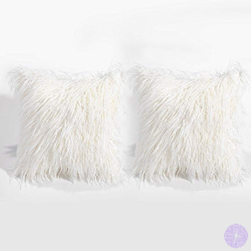 Bleum Cade Set Of 2 Faux Fur Throw Pillow Cover Super Soft Plush Cushion Case 18X 18