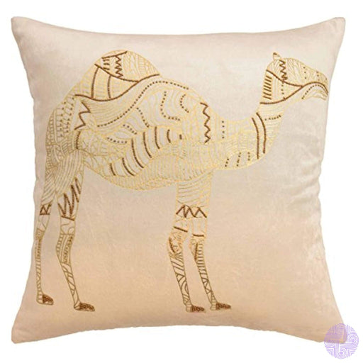 Blissliving Home Marrakesh Sabrine Beaded Decorative Pillow Ivory 18X18