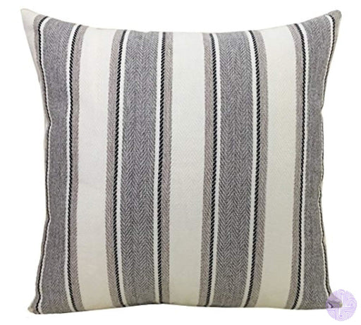 Bluettek Cool Stripe Pillow Cases Cotton Linen Square Decorative Throw Cushion Cover-18 X 18 (Light
