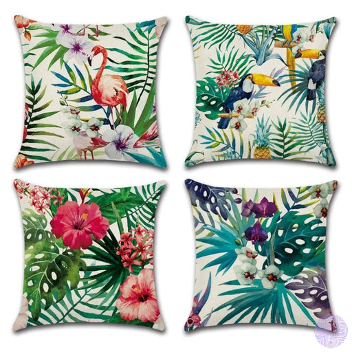 Bold And Bright Modern Throw Pillow Covers Flamingo-1
