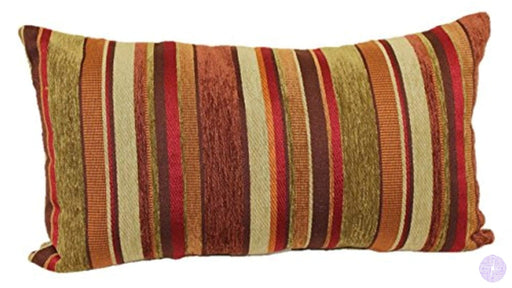 Brentwood Originals 2073 Carnival Stripe Toss Pillow 14 By 24-Inch Shiraz