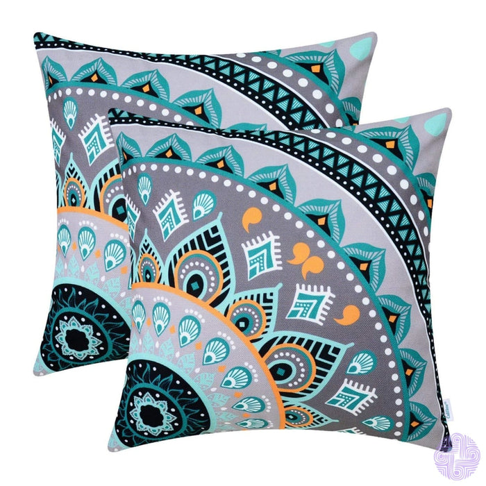 Brilliant Color Mandala Inspired Throw Pillow Covers Quarter # C