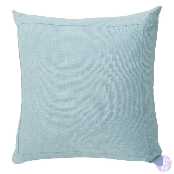 Burlap Linen Solid Throw Pillow Covers 18 X / Baby Blue