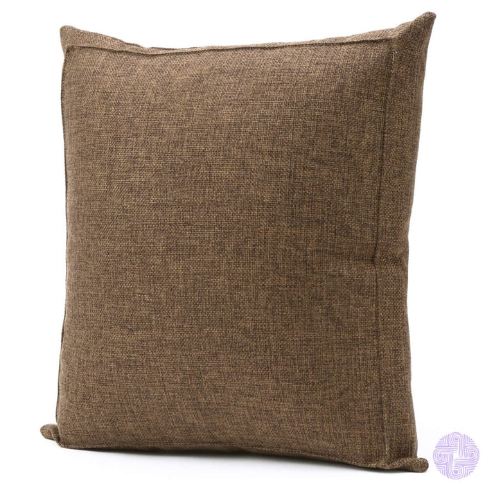 Burlap Linen Solid Throw Pillow Covers 18 X / Dark Brown
