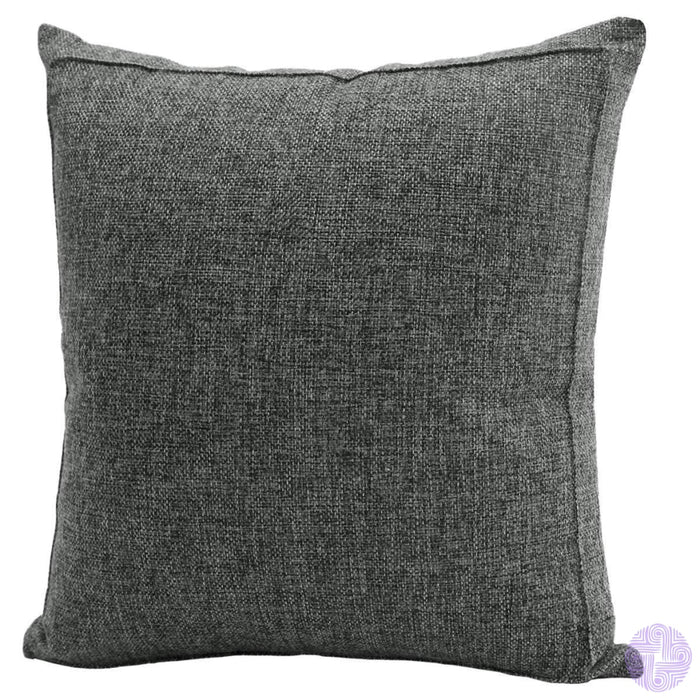 Burlap Linen Solid Throw Pillow Covers 18 X / Dark Grey