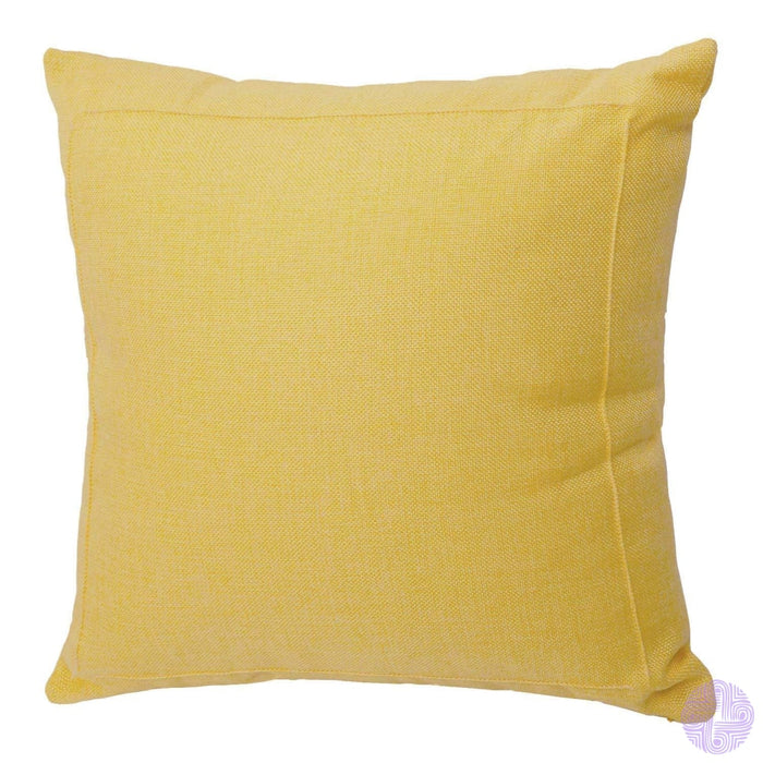 Burlap Linen Solid Throw Pillow Covers 18 X / Yellow