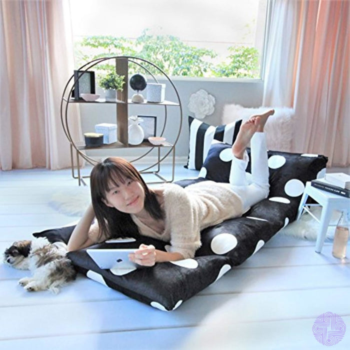 Butterfly Craze Floor Lounger Cover Inflatable Air Bed Mattress Or Bean Bag Chair Alternative. Black