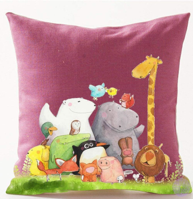 Cartoon Cat And Mouse Decorated Throw Pillow Covers 5