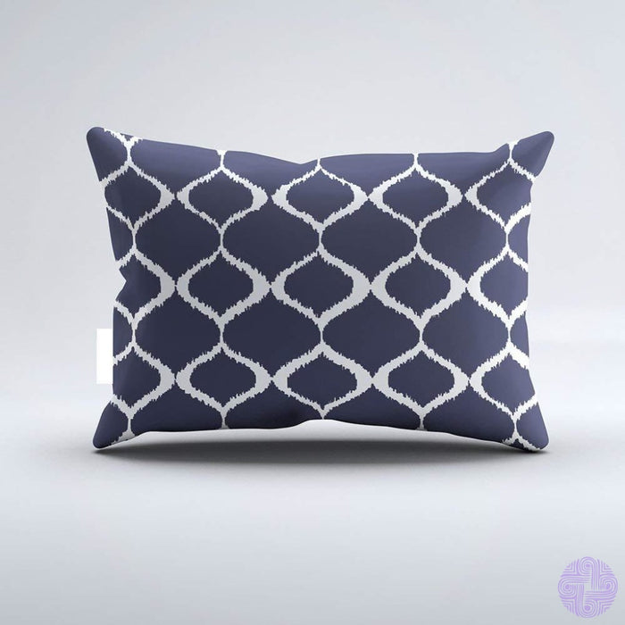 Christ-Ez Notched Corner Frame Navy Blue Background Monogram Pillowcase Pillow Case Cushion Cover