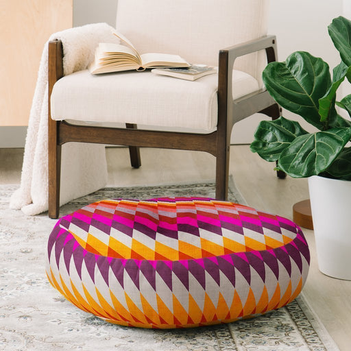 Color Diamond Shapes Floor Pillow