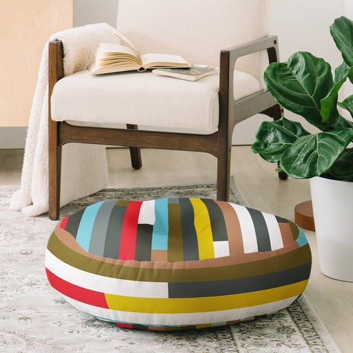 Color Lines Soft Floor Pillow