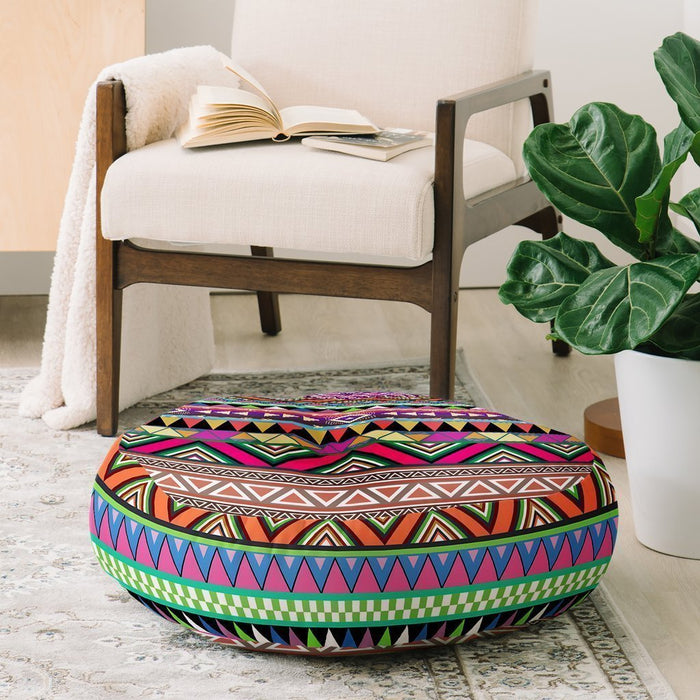 Colorful Art Pattern Floor Pillow