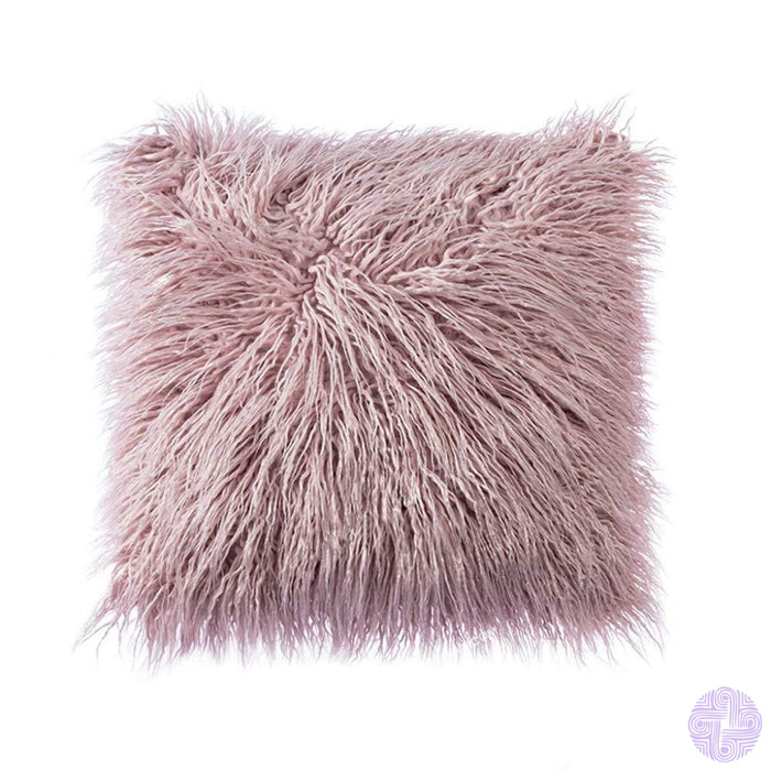 Deluxe Faux Fur Throw Pillow Covers 12 X 20 Inch / Purple