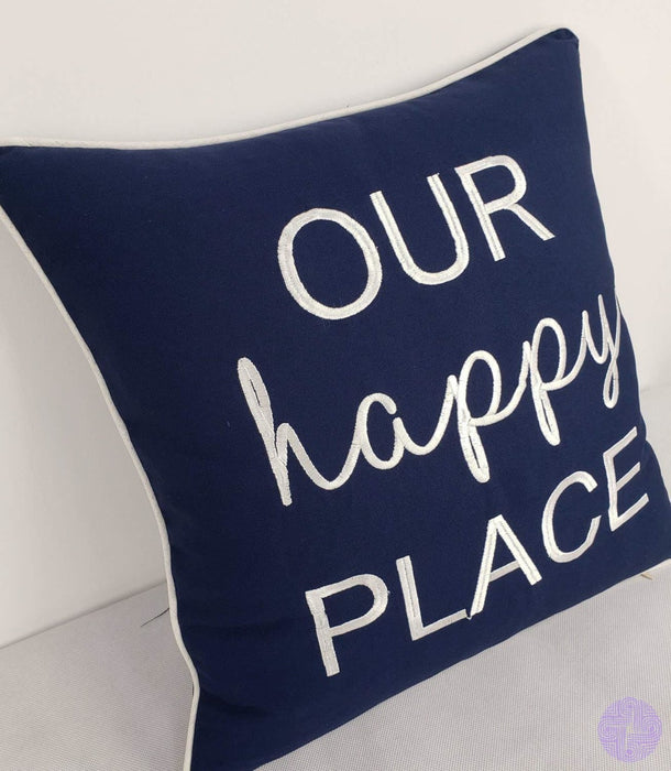 Eurasia Decor Decorhouzz Pillowcase Farmhouse Embroidered Home Throw Pillow Cover Funny Quote