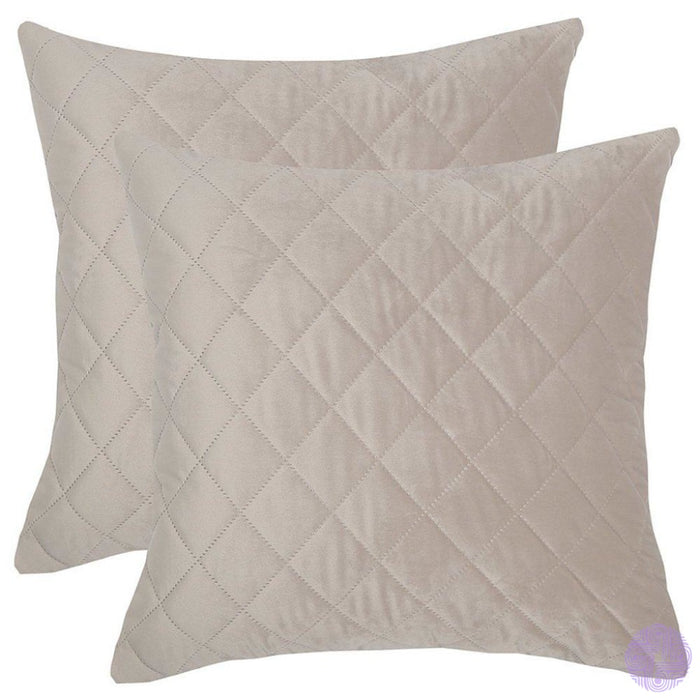 Herringbone Pattern Velvet Throw Pillow Covers Silver / 12X20 Inches