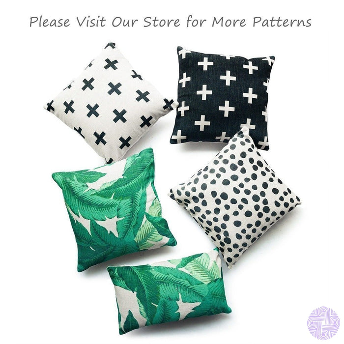 Hofdeco Decorative Throw Pillow Cover Heavy Weight Cotton Linen Modern Tropical Polka Dots 18X18