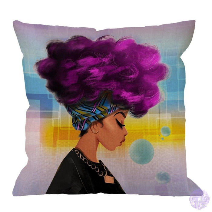 Humorous Animal Design Throw Pillow Covers African Women