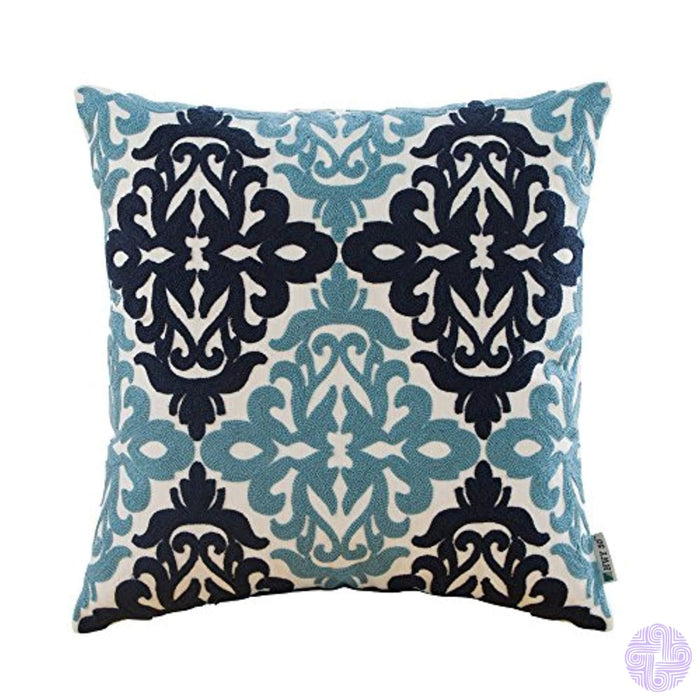 Hwy 50 Cotton Decorative Embroidered Throw Pillows Covers For Couch Sofa Bed 18 X Inch A Pc Cases