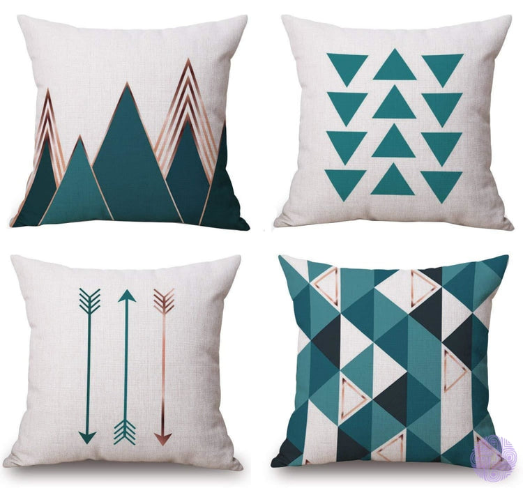 Modern Geometric Print Throw Pillow Covers
