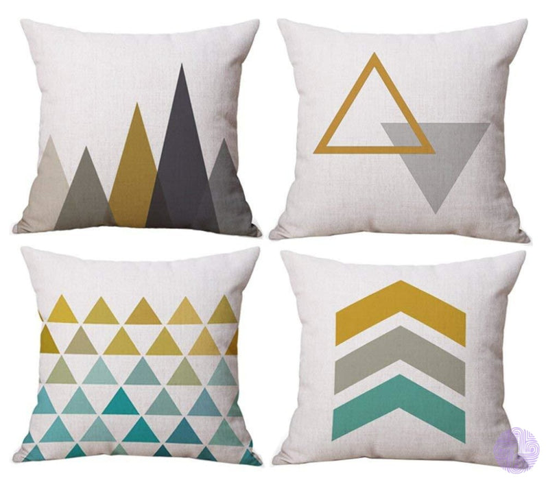 Modern Geometric Print Throw Pillow Covers Yellow