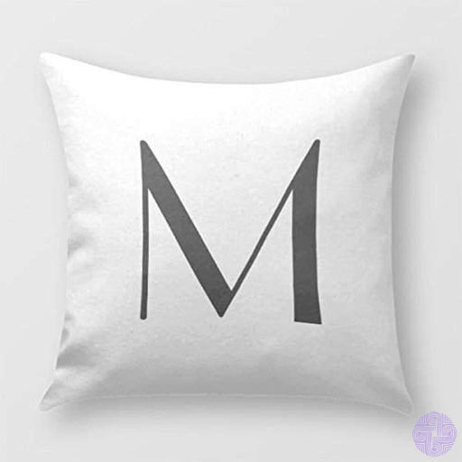 Monogram Pillow Cover For Sofa Or Bedrooms Letter M