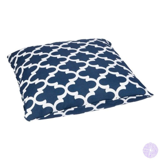 Mozaic Company Indoor/outdoor Corded Floor Pillow Scalloped Navy