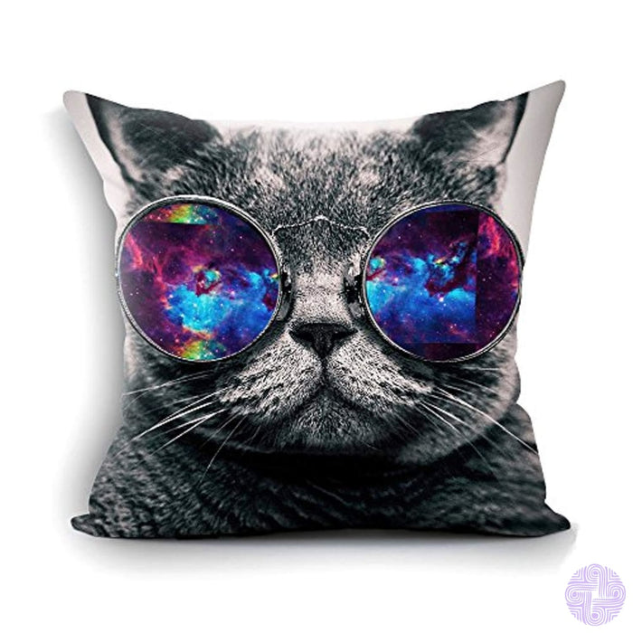 Ofloral Galaxy Hipster Cat Theme Funny Wear Color Sunglasses Soft Custom Rectangle Pillowcase Pillow