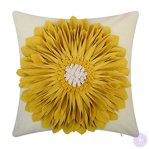 Oiseauvoler 3D Sunflowers Embroidered Throw Pillow Cases Handmade Decorative Cushion Covers For Home