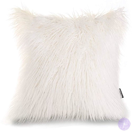 Phantoscope Decorative New Luxury Series Merino Style Fur Throw Pillow Case Cushion Cover 18 X 45Cm