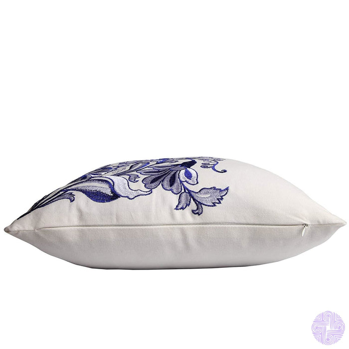 Queenie® - 2 Pcs Traditional Chinese Blue & White Porcelain Series 100% Cotton Embroidered