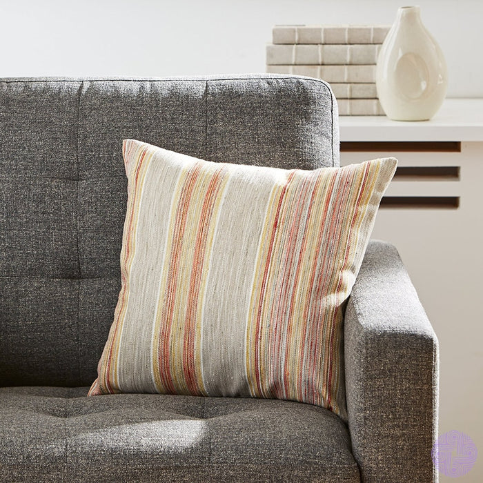 Rivet Bohemian Stripe Pillow 17 X Dusk
