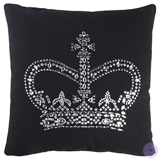 Rizzy Home Andrew Charles Collection Studd & Hand Beaded Work Decorative Pillow 20 X Black