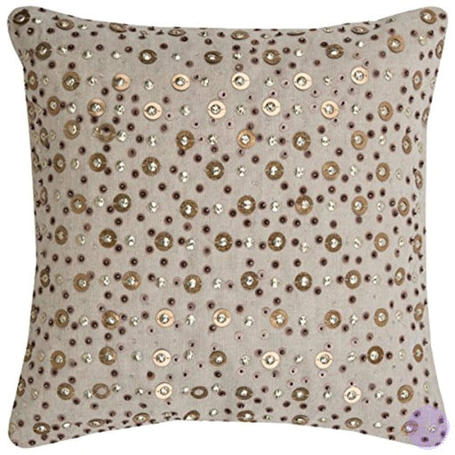Rizzy Home Pilt08013Iv001818 One Of A Kind All Over Beaded & Sequined Decorative Pillow Ivory