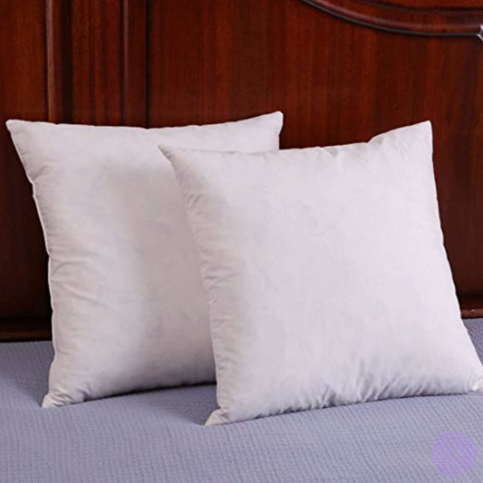 Set Of 2 Down And Feather Throw Pillow Insert Decorative Pillows Inserts Cotton Fabric
