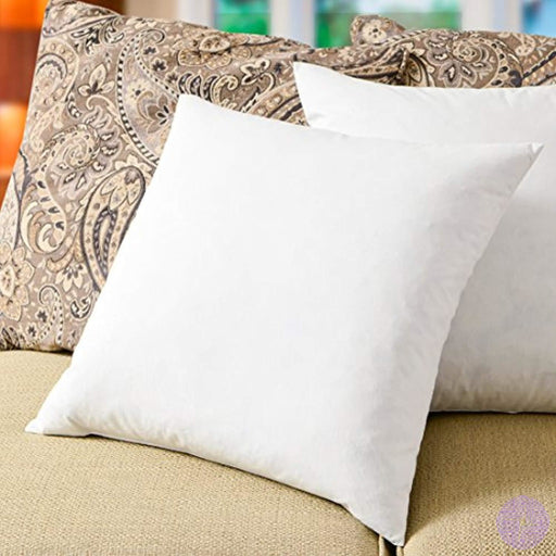 Simple Comfort Premium 95% Feather/5% Down Pillow Insert Sham Stuffer (16 X 16)