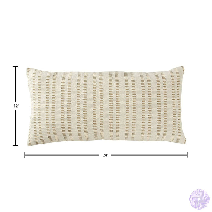 Stone & Beam French Laundry Stripe Pillow 17 X Ivory Grey