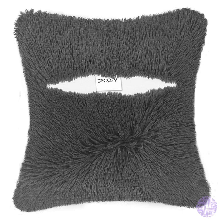 Super Silky Soft Faux Fur Square Throw Pillow Case (Without Insert) 18X 18 Pack Of 2 Cozy Fluffy