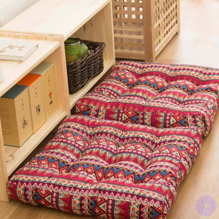 Tmjj Cotton Linen Floor Pillow Cushion Japanese Futon Square Seat Thicken Chair Wave Window Pad 21 X