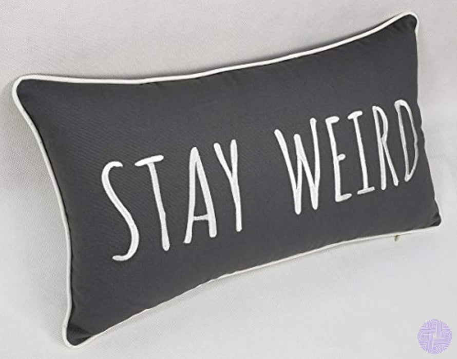 Trivenee Tex Pillowcase Embroidered Funny Inspirational Quote Throw Pillow Cover Decorative For