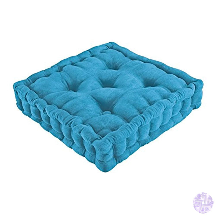 Tufted Support Padded Boosted Cushion Blue