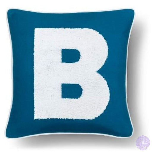 Varsity Monogram Throw Pillow Cover B