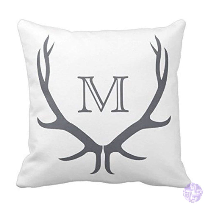 Youhome Black White Monogram L Designer Monogrammed Throw Pillow Case Cushion Cover Home Sofa