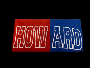 Red & Blue Spliced Howard Outline shirt