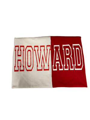 Red & White Spliced Howard Outline Shirt