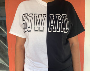 Black & White Spliced Howard Outline Shirt