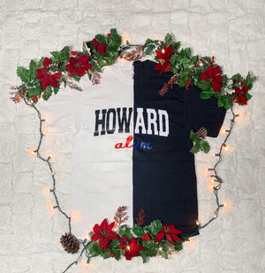 Black & White Short Sleeve Spliced Howard ALUM T-shirt