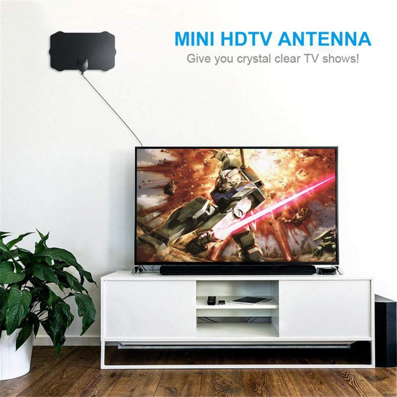 120 Miles TV Antena 1080P Digital HDTV Indoor TV Antenna With Amplifier  Signal Booster