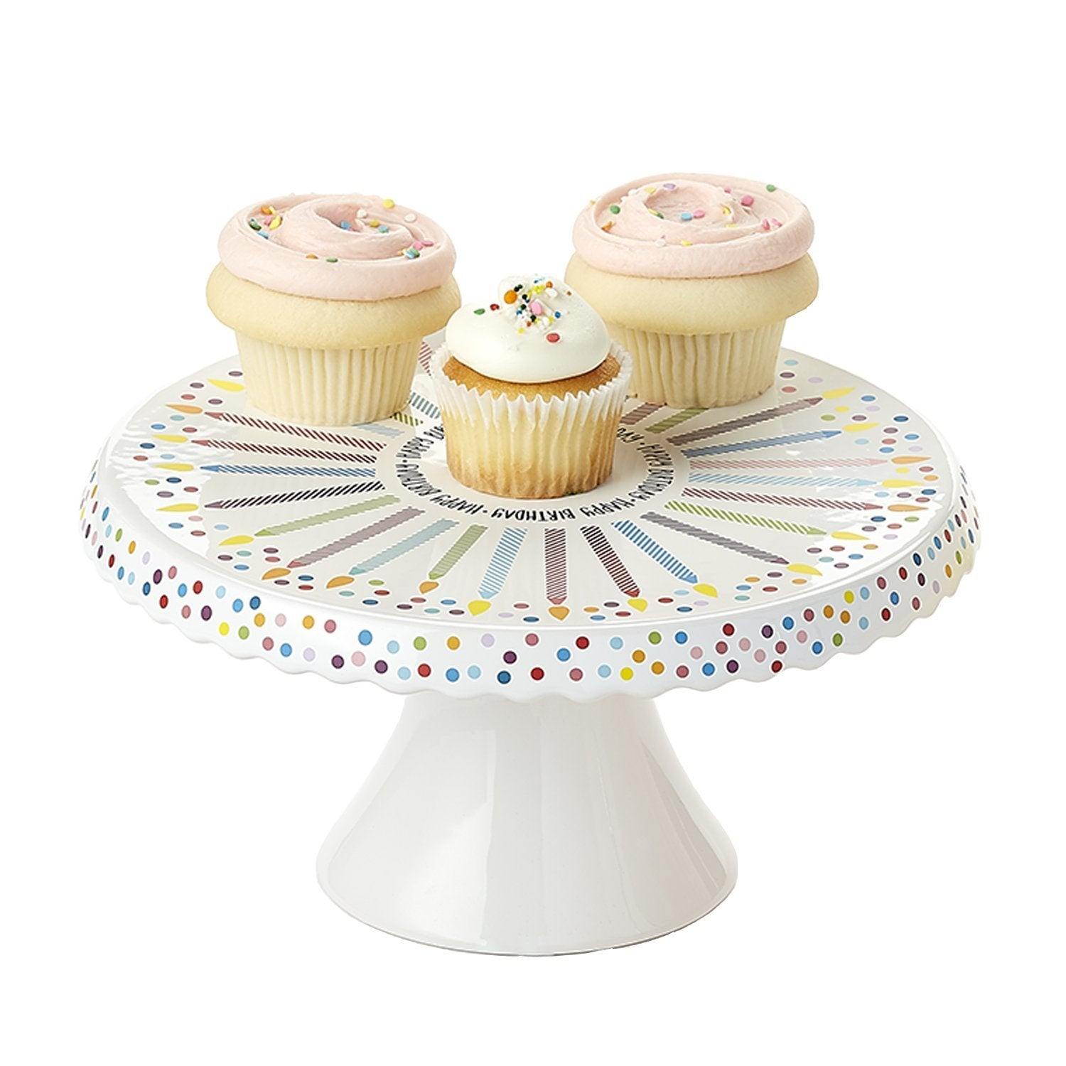 Confetti Candles Happy Birthday Cake Stand