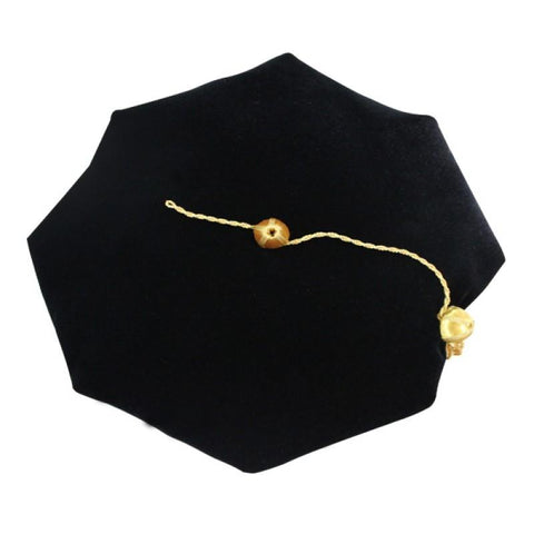 8 Sided Doctoral Tam - Academic Faculty Regalia - Graduation Cap and Gown